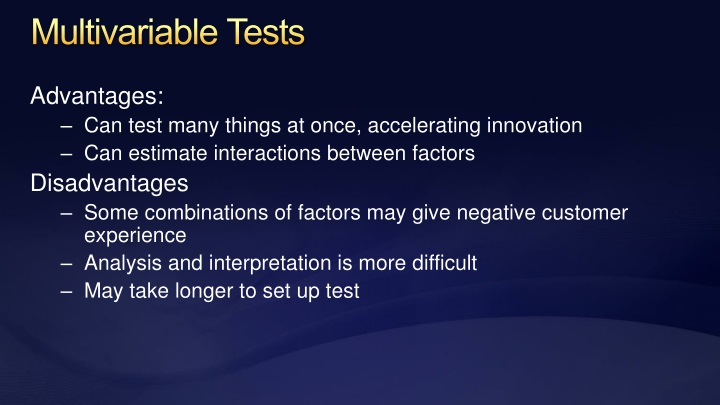 Multivariable Tests