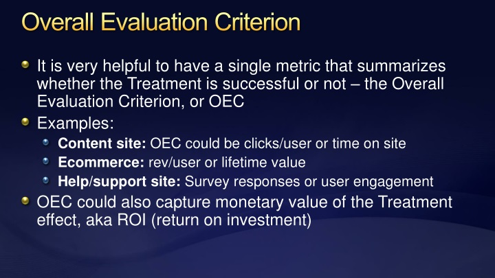 Overall Evaluation Criterion