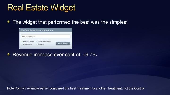Real Estate Widget