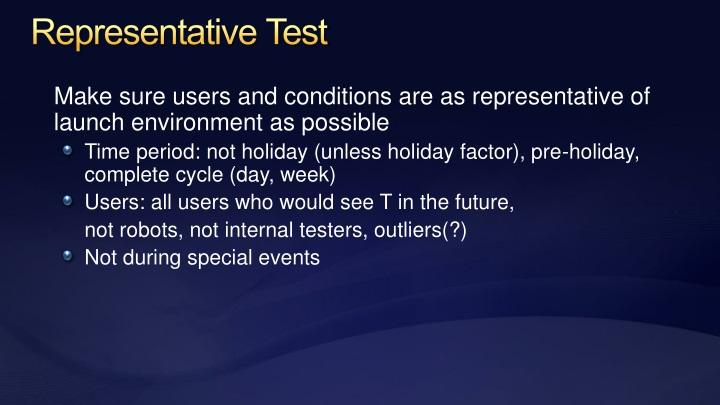 Representative Test