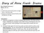 diary of anne frank drama