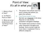 point of view it s all in what you
