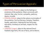 types of persuasive appeals