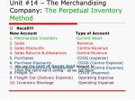 unit 14 the merchandising company the perpetual inventory method1