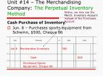 unit 14 the merchandising company the perpetual inventory method2
