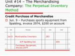 unit 14 the merchandising company the perpetual inventory method3