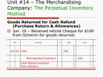 unit 14 the merchandising company the perpetual inventory method4