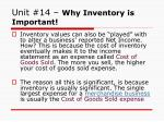unit 14 why inventory is important1