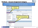 attribute account assignment category