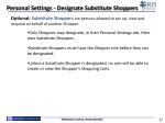 personal settings designate substitute shoppers