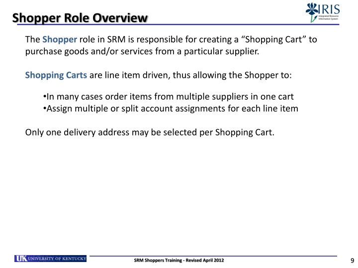 Shopper Role Overview