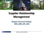 supplier relationship management shopper personal settings mm srm sps 200