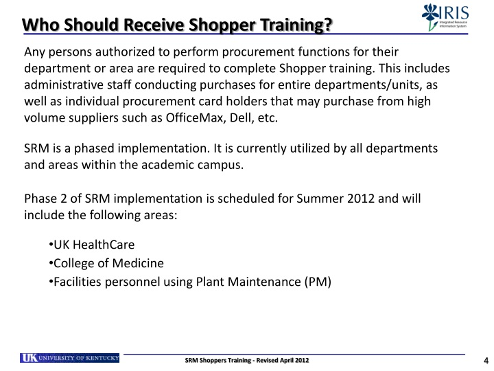 Who Should Receive Shopper Training?