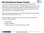who should receive shopper training
