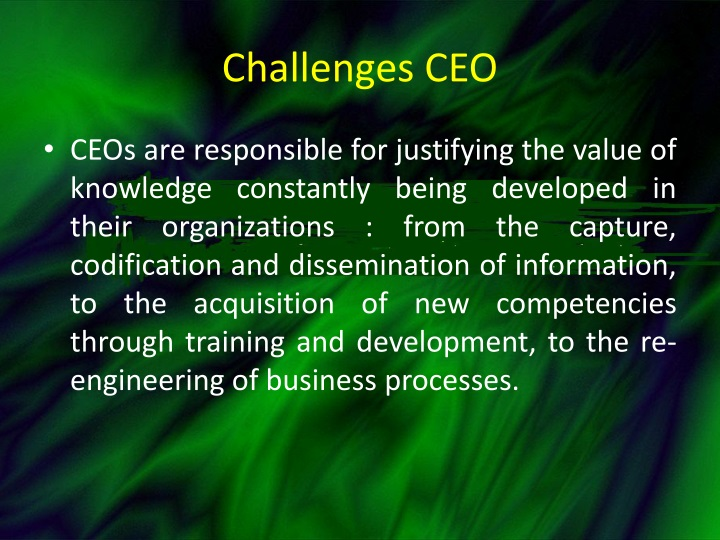 Challenges CEO