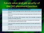 future value and job security of the cko placement position