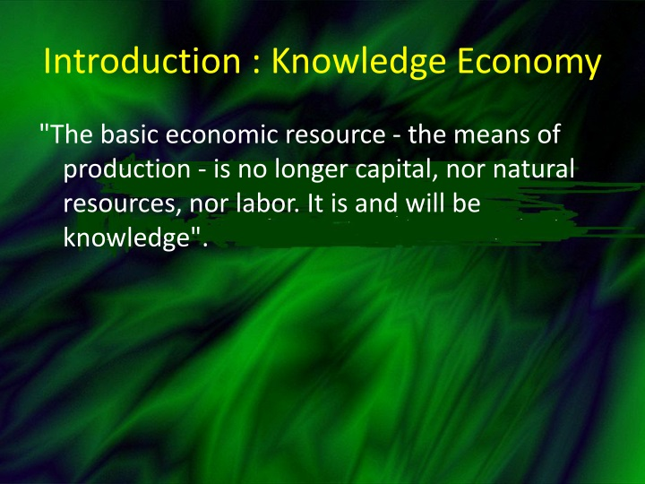 Introduction knowledge economy