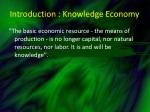 introduction knowledge economy