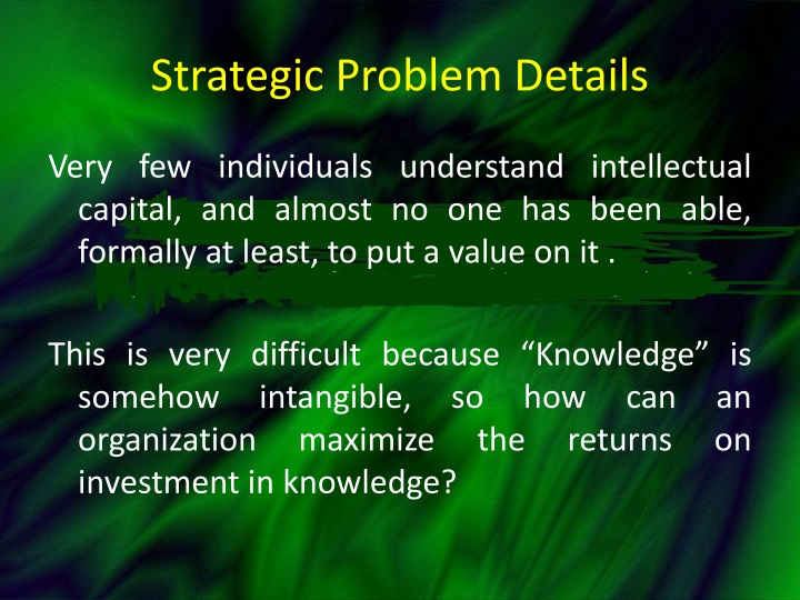 Strategic Problem Details