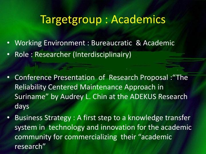 Targetgroup