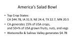 america s salad bowl