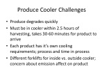 produce cooler challenges
