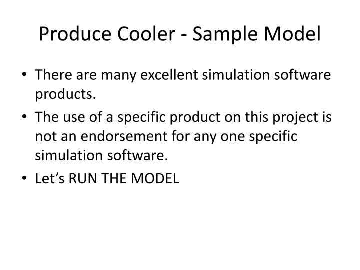 Produce Cooler - Sample Model