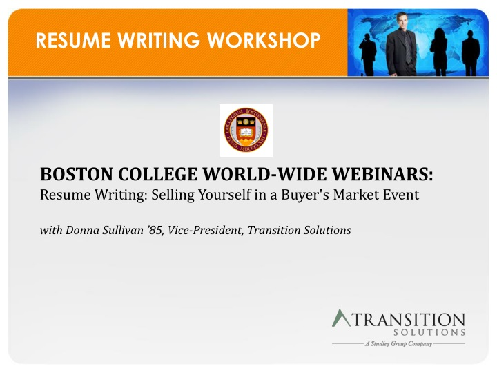 Online Job Search and Resume Submittal Workshop in Boston  MA