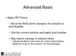 advanced basis