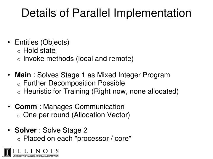 Details of Parallel Implementation