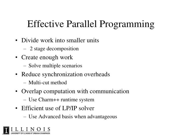 Effective Parallel Programming