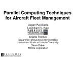 parallel computing techniques for aircraft fleet management