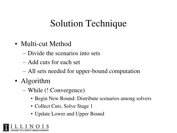 Solution Technique