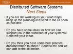 distributed software systems next steps