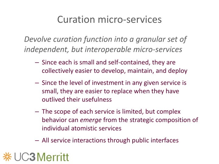 Curation micro-services