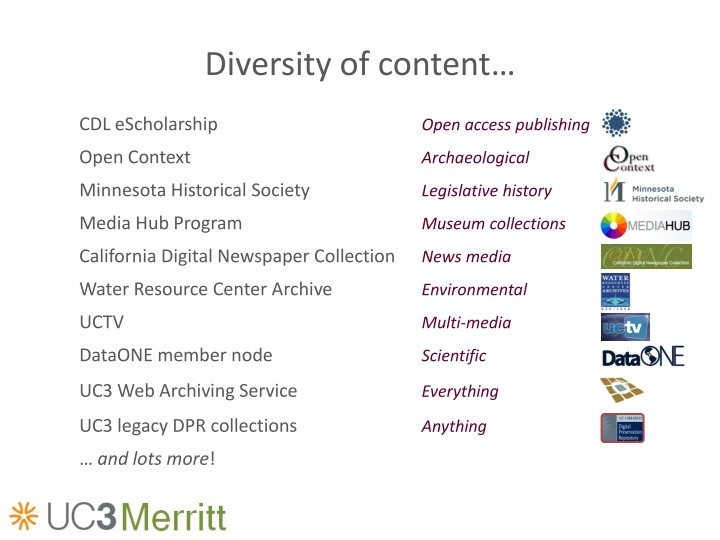 Diversity of content…