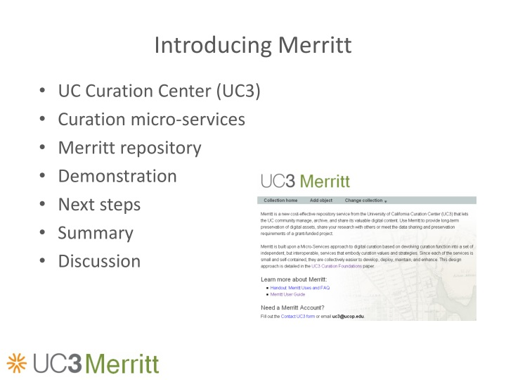 Introducing Merritt