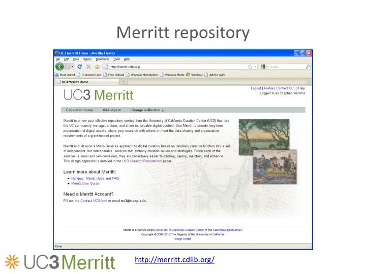 Merritt repository