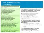 pbm pharmd project tool design