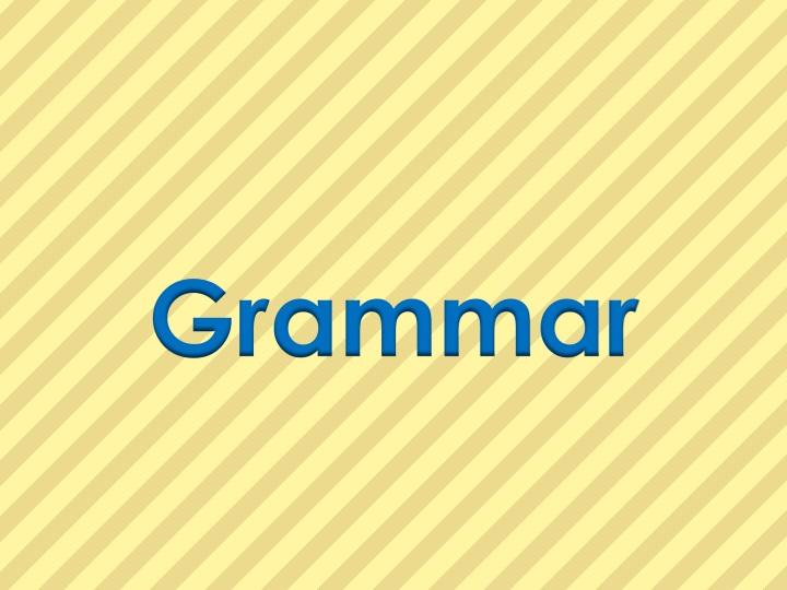 Grammar