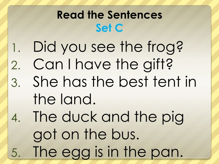 Did you see the frog?
