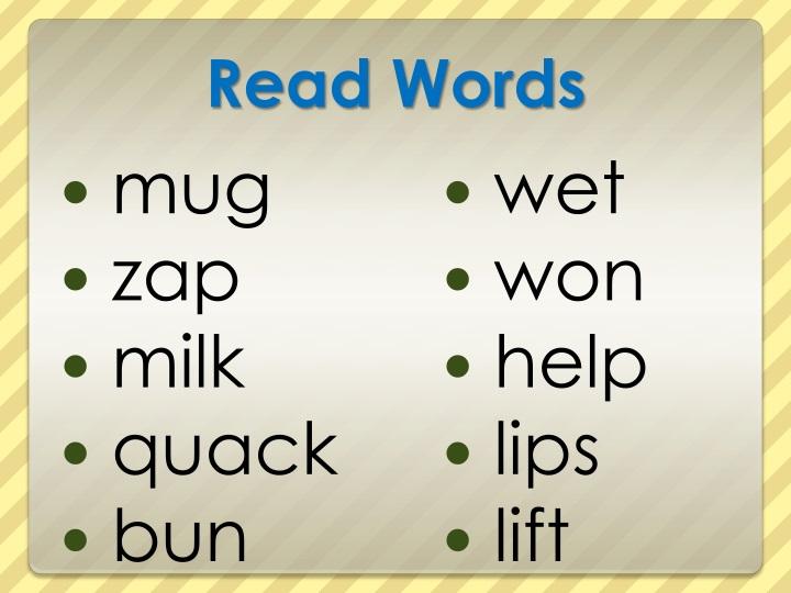 Read Words