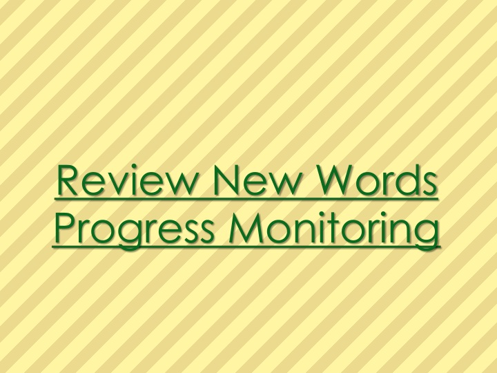 Review New Words