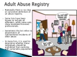 adult abuse registry