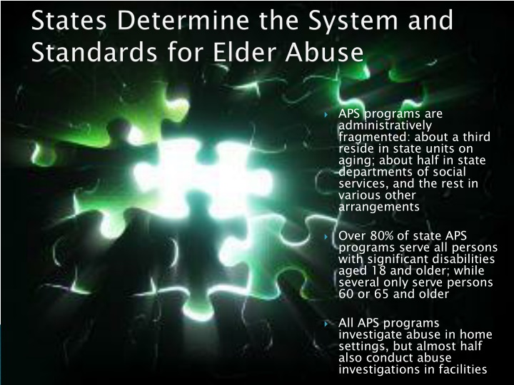 States Determine the System and Standards for Elder Abuse