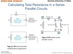 calculating total resistance in a series parallel circuits
