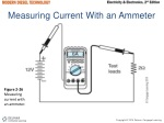 measuring current with an ammeter
