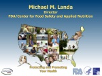 michael m landa director fda center for food safety and applied nutrition