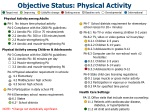 objective status physical activity