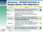 summary hp2020 nutrition weight status fda objectives